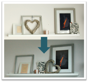 Gallery wall - change composition untill satisfied
