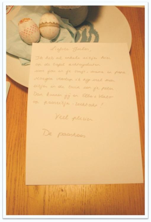 Brief van de paashaas