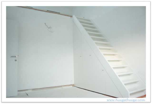 Loft - storage under stairs