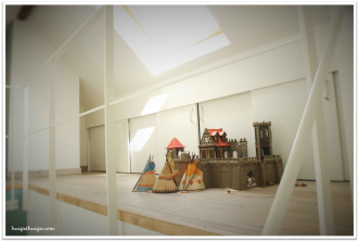 Loft - boysroom - playroom - build in closet