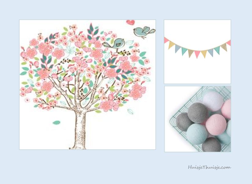 moodboard-babygirl - tree - cotton balls - banner