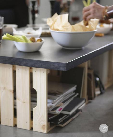Ikea - Knagglig - kist - salontafel