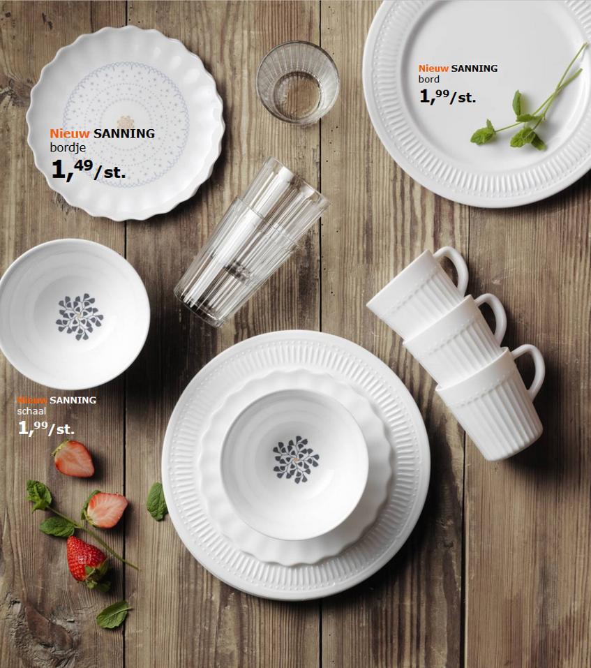 Zwart Wit Servies Ikea.Ikea Sanning Servies