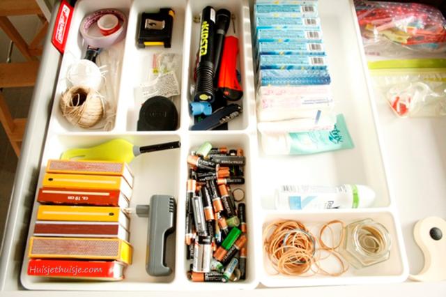 Huisjethuisje.com - KonMari - organizing - junkdrawer - Ikea